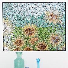 Field of Sunflowers Mosaic Wall Décor