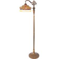 "Parisian Tiffany Style Stained Glass 60"" H Sidearm Floor Lamp"
