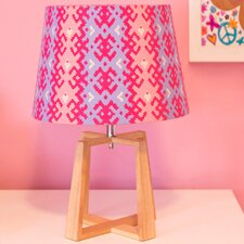 """Wood Base 19"""" Table Lamp"""