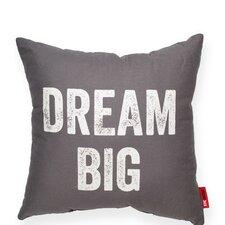 "Expressive ""Dream Big"" Decorative Throw Pillow"