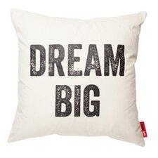 Expressive Dream Big Cotton Throw Pillow