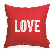 "Expressive ""Love"" Decorative Throw Pillow"