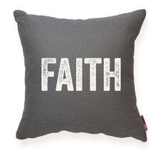 "Expressive ""Faith"" Decorative Throw Pillow"