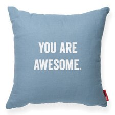 "Expressive ""You Are Awesome"" Decorative Throw Pillow"