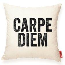 "Expressive ""Carpe Diem"" Decorative Cotton Throw Pillow"