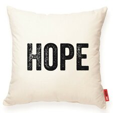 "Expressive ""Hope"" Decorative Cotton Throw Pillow"