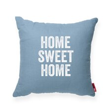 "Expressive ""Home Sweet Home"" Decorative Throw Pillow"