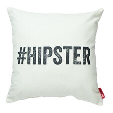 "Expressive ""# Hipster"" Decorative Cotton Throw Pillow"