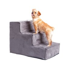Upholstered 3 Step Pet Stairs