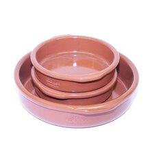 Elegant Terra cotta cookware 3-Piece Round Casserole Set