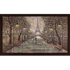 Walk To Eiffel Tower by Anastasia C. Framed Original Painting