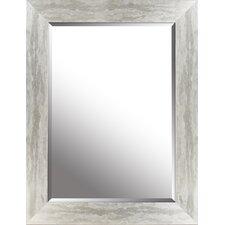 "Silver Leaf Gradient Frame 26.25"" x 34.25"" Beveled Mirror"