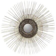Fine Metal Starburst Accent Mirror