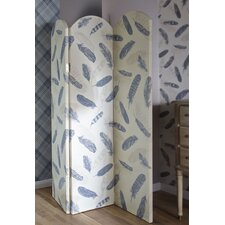 150cm x 120cm Lochs and Lagoons Plume 3 Panel Room Divider