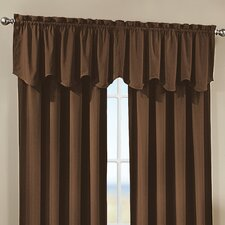 Peach Skin Saw Curtain Valance