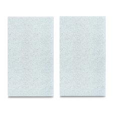 2-tlg. Herdabdeck-/Schneideplatten-Set Granit