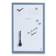Memo Board with Clock and Calendar