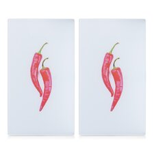 2-Piece Chili Hob Cover and Cutting Board Set (Set of 2)