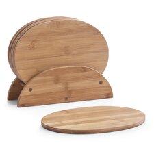 7-tlg. Brettchenständer Set oval