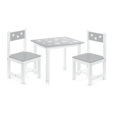Stars 3 Piece Children Table and Chair Set