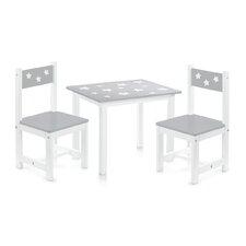 3-tlg. Kinder Tisch und Stuhl-Set Sterne