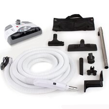 Central Vacuum Kit with Power Head, Hose and Tools