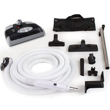 35 Ft Central Vacuum Kit with Carpet Power Head, Hose and Tool