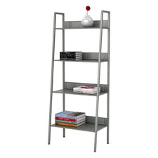 "Angled 58.38"" Accent Shelves Bookcase"