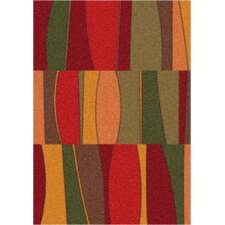 Modern Times Red Area Rug