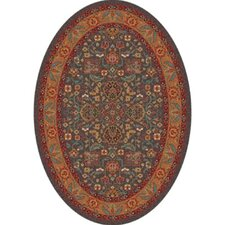 Pastiche Abadan Tin Roof Grey Oval Rug
