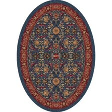 Pastiche Kamil Blue Grey Oval Rug