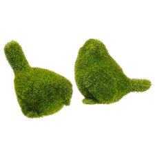Moss Covered BirdsStatue (Set of 2)