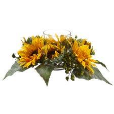 Sunflower BerryCenterpiece with Candleholder