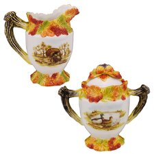Hunt Harvest Sugar and Creamer Set