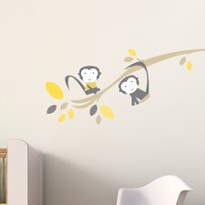 Branch with Monkey Wall Decal