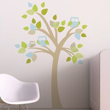 Tree with Owls Wall Decal