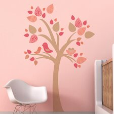 Tree with Bird Nest Wall Decal