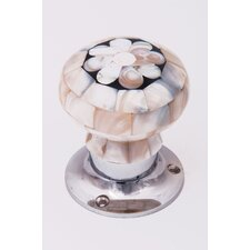 Mosaic Flower Door Knob (Set of 2)