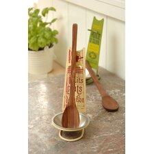 Petits Plats Maison 2 Piece Spoon Rest and Wooden Spoon Set