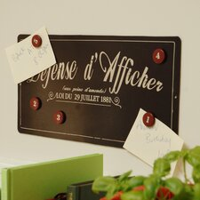 Defense d'Afficher Magnetic Pin Chalkboard