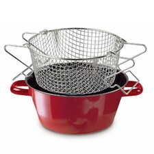 Color 24 cm French Fry Cooker in Red