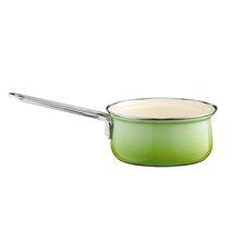 """16cm Stielkasserolle """"Smaragd"""" aus Email in Grün"""