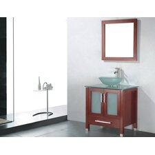 "Adrian 30"" Single Bathroom Vanity Set with Mirror"
