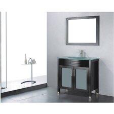 """Adora 36"""" Single Bathroom Vanity Set with Mirror"""