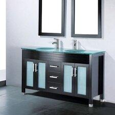 "Adora 59"" Double Bathroom Vanity Set with Mirror"