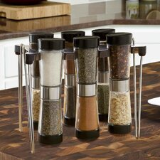 7 Piece Hourglass Spice Rack Set