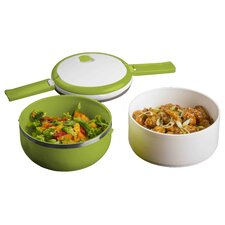 Double Stacked Round Microwave Lunch Bowl