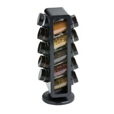 10 Piece Slim Rotating Spice Rack Set