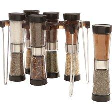 7 Piece Hourglass Spice Rack Set