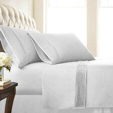 Vilano Springs ® 110 Thread Count Microfiber Pleated Sheet Set